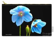 Blue Poppy Flowers # 4 Carry-all Pouch