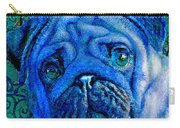 Blue Pug Carry-all Pouch