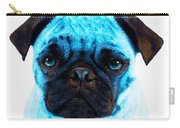 Blue - Pug Pop Art By Sharon Cummings Carry-all Pouch