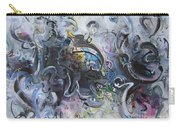 Blue Purple Abstract Movement Art Carry-all Pouch