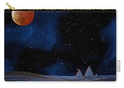 Blue Pyramids With Orange Moon Carry-all Pouch