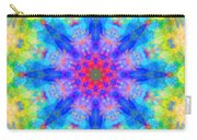 Blue Rainbow Star Mandala Carry-all Pouch