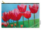 Blue Ray Tulips Carry-all Pouch