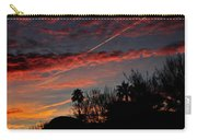 Blue Red And Gold Sunset With Streak Carry-all Pouch