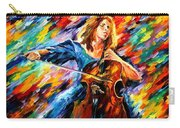 Blue Rhapsody - Palette Knife Oil Painting On Canvas By Leonid Afremov Carry-all Pouch