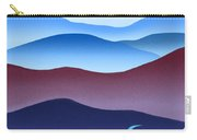 Blue Ridge Blue Road Carry-all Pouch by Catherine Twomey