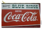 Blue Ridge Coca Cola Sign Carry-all Pouch