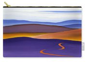 Blue Ridge Orange Mountains Sky And Road In Fall Carry-all Pouch by Catherine Twomey
