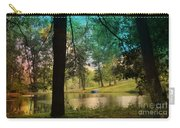 Blue Rowboat On Golden Pond Carry-all Pouch