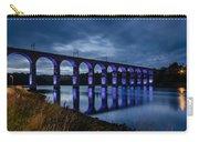Blue Royal Border Bridge Carry-all Pouch