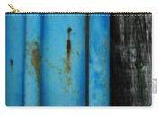 Blue Rusty Farm Gate Carry-all Pouch