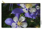 Blue Saphire Columbine Carry-all Pouch