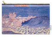 Blue Seascape Wave Effect Carry-all Pouch