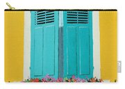 Blue Shutters And Flower Box Carry-all Pouch