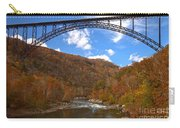 Blue Skies Over The New River Bridge Carry-all Pouch