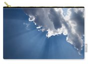 Blue Sky And Sun Rays Carry-all Pouch