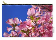 Blue Sky Art Prints Pink Dogwood Flowers Carry-all Pouch