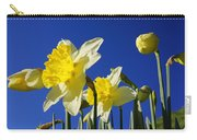 Blue Sky Spring Bright Daffodils Flowers Carry-all Pouch