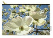 Blue Sky Spring White Dogwood Flowers Art Prints Carry-all Pouch