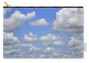 Blue Sky With Cumulus Clouds Day Usa Carry-all Pouch