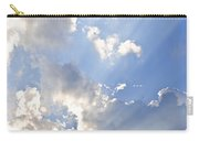 Blue Sky With Sun Rays Carry-all Pouch
