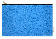 Blue Sponge Texture Carry-all Pouch