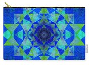 Blue Sri Yantra Variation Carry-all Pouch