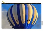 Blue Stripped Hot Air Balloon Carry-all Pouch