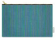 Blue Teal And Yellow Striped Textile Background Carry-all Pouch