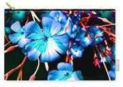 Blue Tint Flowers Carry-all Pouch