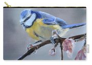 Blue Tit And Blossoms Carry-all Pouch