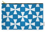 Blue Twirl Carry-all Pouch by Linda Woods