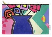 Blue Vase Carry-all Pouch by Bodel Rikys