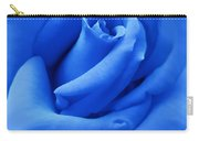 Blue Velvet Rose Flower Carry-all Pouch by Jennie Marie Schell