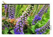 Blue Veronica Flowers   Digital Paint Carry-all Pouch