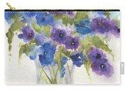Blue Violet Flower Vase Carry-all Pouch
