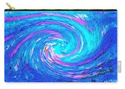 Blue Vortex Abstract 2 Intense Carry-all Pouch