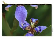 Blue Walking Iris Carry-all Pouch by Carol Groenen