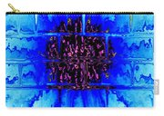 Blue Wallflower Abstract Carry-all Pouch