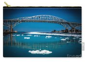 Blue Water Bridge Reflection Carry-all Pouch