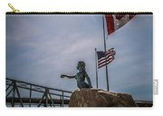 Blue Water Maiden In International Flag Plaza Carry-all Pouch