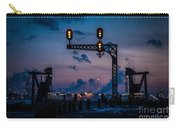 Blue Water River Walk At Dusk Carry-all Pouch