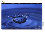 Blue Water Splash Carry-all Pouch by Anthony Sacco