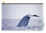 Blue Whale Tail Fluke With Remoras Carry-all Pouch