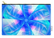 Blue Wheel Inflamed Abstract Carry-all Pouch