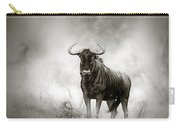 Blue Wildebeest In Rainstorm Carry-all Pouch by Johan Swanepoel