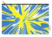 Blue Yellow White Swirl Carry-all Pouch