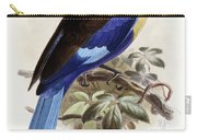 Bluebellied Roller Carry-all Pouch by Johan Gerard Keulemans