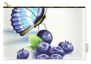 Blueberries And Butterfly Carry-all Pouch