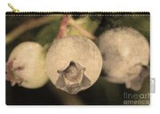 Blueberries On Bush Sepia Tone Carry-all Pouch